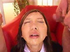 Free Porn Japanese Schoolgirl Sits And Does Bukkake