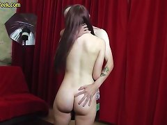 Free Porn Teen Pussy Teases Strangers Cock During Photoshoot