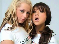 Free Porn Sizzling Teens Play With Each Others Hot Pussies