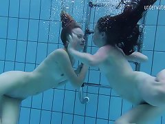 Free Porn Two Lovely Babes Enjoy Making Out Passionately Under The Water