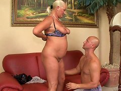 Free Porn Fat Granny Shows Off Her Experience To A Younger Dude