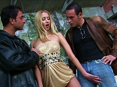 Free Porn Blondie Julie Silver Gets Naked With Her Two Aroused Partners