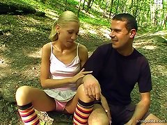 Free Porn Teen Couple In The Forest Has Anal Sex In The Leaves