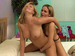 Free Porn A Teen Babe Puts On A Strapon And Fucks A Sexy Milf With It