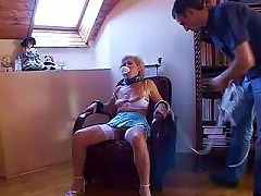 Free Porn Experienced Slutty Granny Gets Some Mighty Young Chopper Inside Her