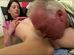 Free Porn This Video Contains Threesome Sex Engaging Old Dude And Young Fella
