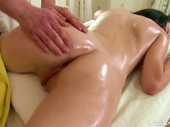 Free Porn Teen On His Massage Table Gets A Hot Rubdown And Hardcore Fuck