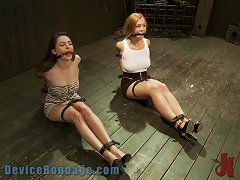 Free Porn Two Bondage Sluts Are Tied Up And Punished