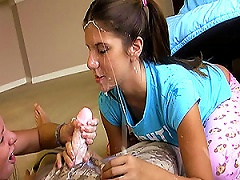Free Porn Two Teen Girls With Pigtails Give A  For The First Time