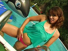 Free Porn Am Sure You Will Not Get Tired Watching This Solo Brunette Masturbating Outdoors