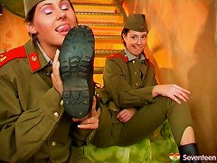 Free Porn Female Army Officers Have A Steamy & Hot Lesbian Affair
