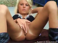 Free Porn Lovely  Boots On Skinny Teen Outdoors