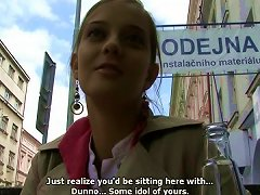 Free Porn Czech Teen Showing Her Big Natural Tits And Giving A Blowjob In Public