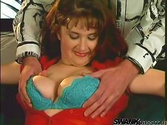 Free Porn A Chubby Milf In Stockings Gets Banged By A Younger Guy