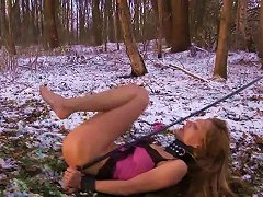 Free Porn Bdsm Session Of Teen Getting Tied Up And Fucked On Cold Winter Day