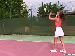 Free Porn Tennis Gets Too Obvious For Antonia And She Tries Sinking Her Fingers Down Her Sweating Cunt
