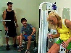 Free Porn Blonde Teen Ally Kay Fucking Her Brother's Gym Instructor