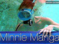 Free Porn Lusty Hungarian Diver With Natural Tits Minnie Manga Masturbates In Pool