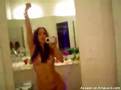 Free Porn Naughty Girl Stands Naked Near A Mirror And Shoots Herself