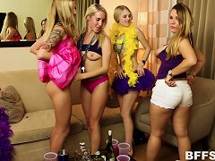 Free Porn Mardi Gras Party Girls Invite Guys Home With Them For An Orgy