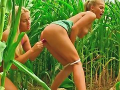 Free Porn Booty And Light Haired Lesbo Hotties Fuck Each Other With Dildo Outdoors
