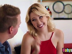 Free Porn Blonde Teen Samantha Rone Banged Hard On Sofa By Lucky Dude