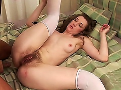 Free Porn Sexy And Nude  Lia Rav In White Stockings Is Riding On Big Schlong Indoors