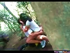 Free Porn Voyeur Tapes A Teen Riding Her Bf In The Forest