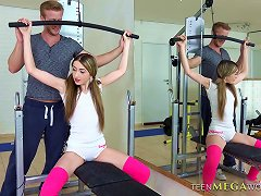 Free Porn Sexy Chick's Workout Is Spiced Up With The Hard Doggy Style Screwing