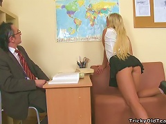 Free Porn Beautiful Blonde School Girl Drains Her Teacher From All Body Fluids