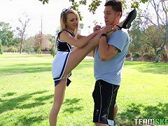 Free Porn Flexible, Sexy Cheerleader Works Out On His Hard Dick