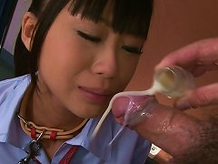 Free Porn Poor Japanese College Girl Chika Ishihara Eats Food And Sucks Hard Cock