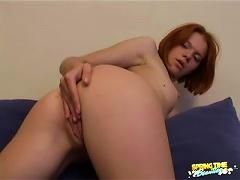 Free Porn Redhead In Pretty Pink