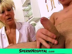Free Porn Nasty Grandma Doctor Hana Milking Young Boy