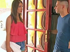 Free Porn Sensual Brunette Angel Lily G Fucks Her Handsome Fellow