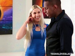Free Porn Fuckable Teen Blonde Has Never Been Fucked By A Big Black Cock