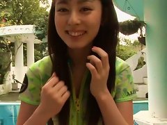 Free Porn Svelte Japanese Babe Rina Akiyama Swims In Pool In Steamy Bikini