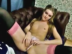 Free Porn Flat Chested Slender Webcam Chick With Pigtails Was Using Her Dildo