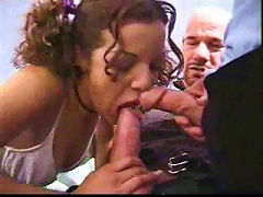 Free Porn Slender Young  With Curly Hair Does Dp