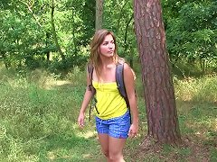 Free Porn Playful Teen Solo Masturbating In The Forest In A Hot Xxx Porn Clip