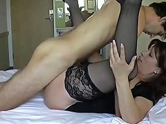 Free Porn Mature Lady In Stockings Takes His Virginity Free Porn A0