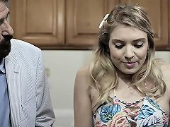 Free Porn Curvy Teen Fucks Her Fathers Best Friend In The Kitchen