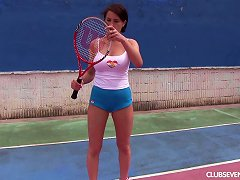 Free Porn Big Naked Tits Are Sexy As She Masturbates On The Tennis Court