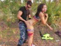 Free Porn Bound Ebony Teen Fucked