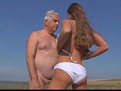 Free Porn Big Titty Teen Fucks Wrinkled Oldman On The Beach Txxx Com