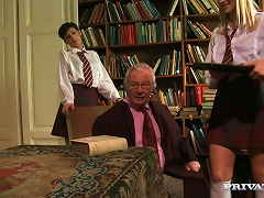 Free Porn Hot Teens In School Uniform Get Fucked By An Old Dude