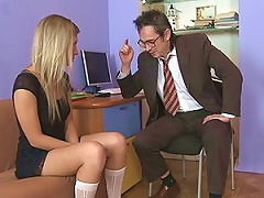 Free Porn Bad  Tempts And Fucks His Sexy Secretary In His Office