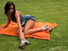 Free Porn Teen Brunette Opens Her Legs Wide To Finger Her