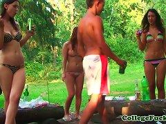 Free Porn Euro Bikini Teens Cocksucking In Outdoor Orgy