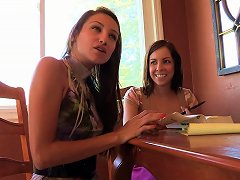 Free Porn Hungry Young Brunette Licks Her Girlfriend's Tight Ass